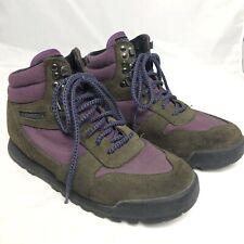 Merrell Women's Eco Hiking Boots Purple & Brown 7.5 M Winter Air Cushion Comfort