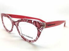 Dolce & Gabbana DG 3197 2852 Red Lace on Clear New Eyeglasses 51mm 19mm 140mm
