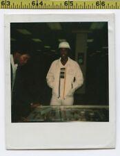 Vintage 1980's POLAROID photo / LA Lakers Jacket Guy & Pal Play Pinball Machine