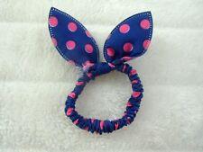 1 elástico por unidades para cabello lazo bunny retro pinup azul topos rosas