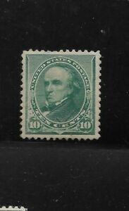 US Scott #226 mint never hinged 10c green Webster 1890  regular issue og f/vf