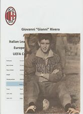 GIANNI RIVERA A C MILAN 1960-1979 RARE ORIGINAL HAND SIGNED MAGAZINE PICTURE