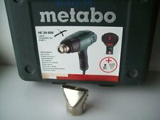 Metabo LEER - Koffer für HE 20-600 incl 1 Düse Bedienungsanleitung Systainer