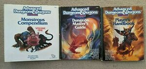 Advanced dungeons and dragons 2nd edition - 3 books