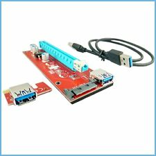 PCIe Riser Kabel ca 55cm lang! ETH Ethereum mining scrypt Molex SATA Strom USB