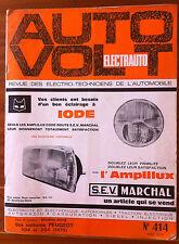 AUTO VOLT n°414; Schéma Fiche des voitures Peugeot 304 de 1970 / 204