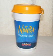Downtown Disney La NouBa Cirque Du Soleil Plastic Popcorn Bucket w/ Handle & Lid