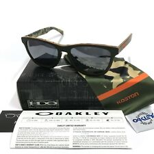 Oakley Sunglasses * Frogskins LX 2043-14 Koston Matte Camo Green Black Iridium