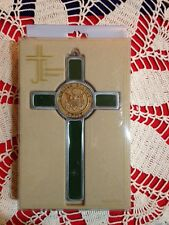 "U.S. ARMY CROSS  MEDALLION PEWTER 8"" IMPRESSIVE & Beautiful NEW in box"