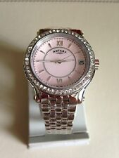 ROTARY LADIES WATCH PINK MOTHER OF PEARL FACE SILVER BRACELET LB03030/07