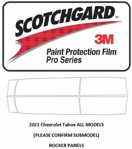 3M SCOTCHGARD PRO Paint Protection Film Suburban Tahoe 2021+ Rocker Panels