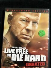 Live Free Or Die Hard Unrated Widescreen Edition Dvd Bruce Willis