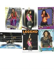 TOPPS 6 WWE SEXY LITA WRESTLING CARDS A NICE MIX