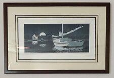Stephen Sebastian Signed Limited Ed. Print Wishing On The Moon 13/200 Sailboat