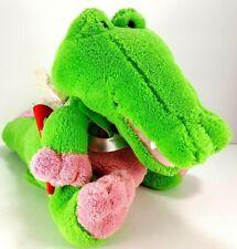 """Hallmark Valentine Crocodile Plush Musical Cupid Animated Green Alligator 8"""""""