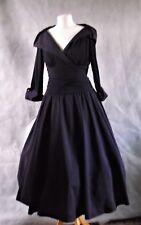ELIZA J purple dress cuff sleeve 10 fit and flare rock n roll 50s style