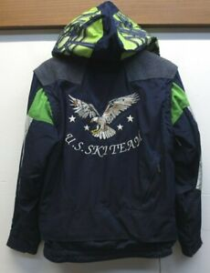 Vtg Boy's Spyder USA Ski Team Jacket Vest Embroidered Eagle Thinsulate Sz 18