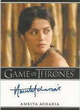 "Game of Thrones Season 2 - Amrita Acharia ""Irri"" Autograph Card"