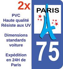 Stickers Autocollant Adhésif Département 75 Paris Ile de France immatriculation