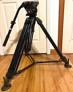 Manfrotto 504HD Fluid Head Video Tripod w/546B Aluminum Leg, Quick Release Plate