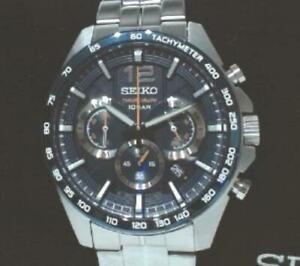 NEW OPEN BOX Seiko Men's SSB345 Solar Chronograph Bracelet Watch $395