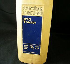 Caterpillar D7G Tractor Bulldozer Crawler Service Repair Manual 44W 45W 64V 65V