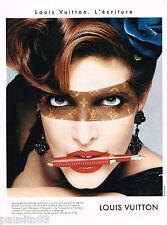 PUBLICITE ADVERTISING 055  1998  LOUIS VUITTON  stylos l'ART DE L'ECRITURE