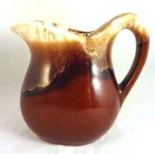 McCOY BROWN DRIP MINI CREAMER / CREAM PITCHER Vintage Ceramic 6 Oz. 3 1/2""