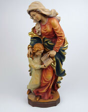 Religiöse Holzigur Hl. Mutter Anna mit Maria, Holz geschnitzt Südtirol