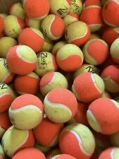 15 Used Tennis Balls - Decent Condition - All Orange Pressureless Balls