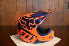Fox Racing V1 Race Helmet Size Med Color Orange/Blue