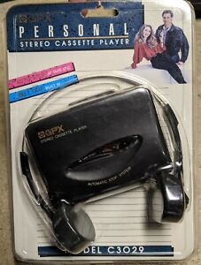 NEW Vintage GPC Gran Prix Personal Stereo Cassette Player with Headphones C3029