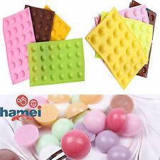 24 Half Ball Sphere Mold Cake Muffin Pastry JellY Silicone Tray Baking Mould DIY