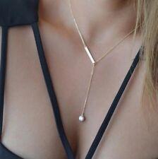 Halskette Y-Kette mit Strass Stein Gold Blogger Kette Anhänger Schmuck P137