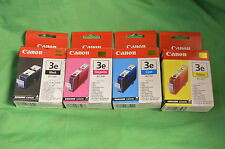 Véritable Canon 3e BCI-3 BCI-3eBK 3m 3em 3C 3eC 3eY 3 Ans Noir Jaune Magenta Cyan