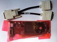 Sff DUAL DELL cp309 Radeon HD 2400 XT 256mb PCIe TV dms-59 WIN 8 & Splitter DVI