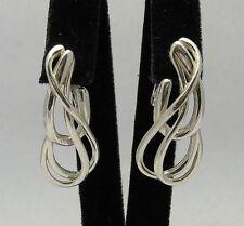Stilvolle Sterling Silber Ohrringe massiv punziert 925 handgefertigt