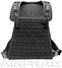 VT071-B Premium Adjustable Tactical Vest with Thick Nylon Padding - Black