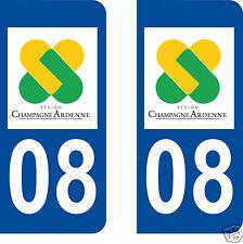 stickers autocollants plaques immatriculation auto Ardennes Département 08