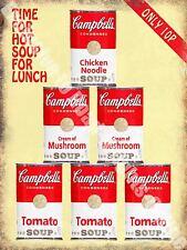 Vintage Food, 92, Campbell's Soup, Cafe Old Shop Kitchen, Large Metal/Tin Sign