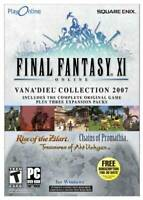 Final Fantasy XI: The Vana'diel Collection 2007 - PC - DVD-ROM - VERY GOOD