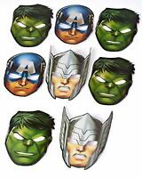 Marvel Avengers Hats/ Masks, 8 Count, Birthday mask Party Supplies