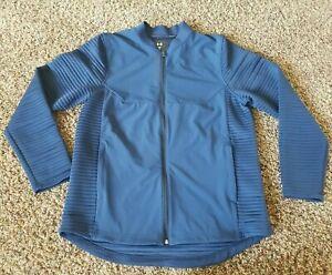 Under Armour Storm Cold Gear Blue Golf Loose Jacket Sz  Medium