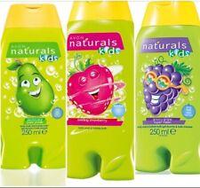 Avon Naturals Kids 3 x Body Wash & Bubble Bath - Grape, Strawberry, Pear. NEW