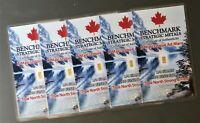 5 X GOLD! CANADA GOLD CARDS 1/4 GRAIN 24k PUREGOLD 999 FINEFRACTIONAL GOLD A14
