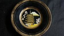 JAPANESE CHOKIN ART PLATE 24 CARAT GOLD ETCHED INCHES ROUND
