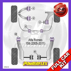 Fits Alfa Romeo 159 (2008-2011) Non Adjust Powerflex Complete Bush Kit