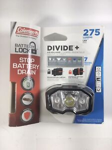 NEW Coleman Divide+ 275 lm LED Headlamp with Battery Lock