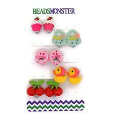 Clip On Earrings for Little Teen Girls Kids Daughter Gift for Her Set, Mix Style