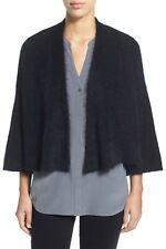 EILEEN FISHER Black Mohair Crop Cardigan Sweater